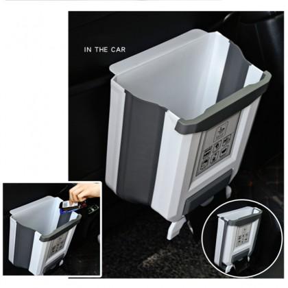 iDECO Foldable Kitchen Dustbin Rubbish Bin Folding Trash Garbage Basket Food Waste Bin Car Bucket Door Hanging Cupboard