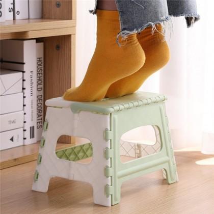 iDECO Little Cute Child Plastic Folding Step Stool Multi Purpose Portable Stool Home Small Seat Travel Foldable